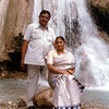 Taujee and Taijee at the Kempty Falls in Mussoorie