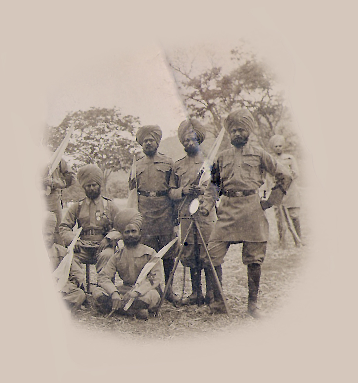 Pardadajee (on chair) and battalion