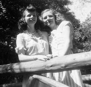 Anna Ferles and Katherine Ferles at a dude ranch.