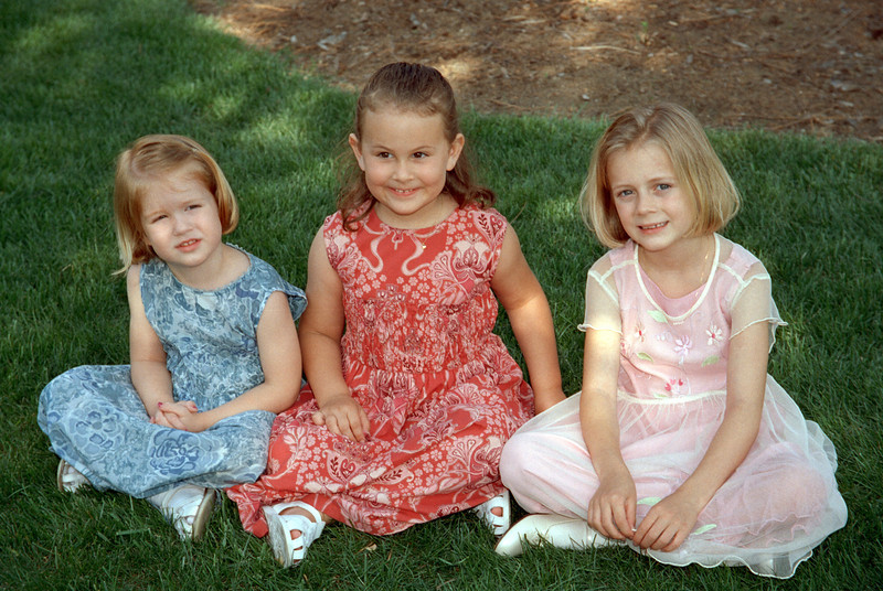 Blair, Meredith, and Olivia, wedding 2001