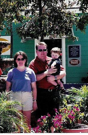 Lori, Cole, and Brett in the Bahamas, April, 2001.