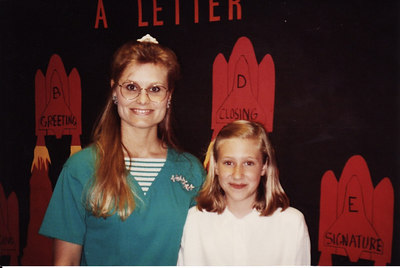 Lisa with Mrs. Hamilton 5th grade