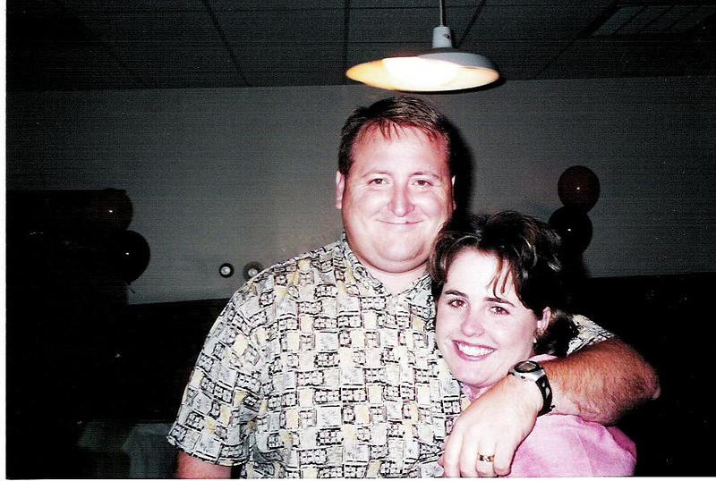 Lori and Brett at Lori's 10 year class reunion.  September, 2001.