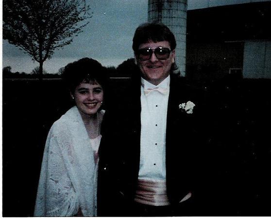 Brett's Senior Prom, April, 1989.