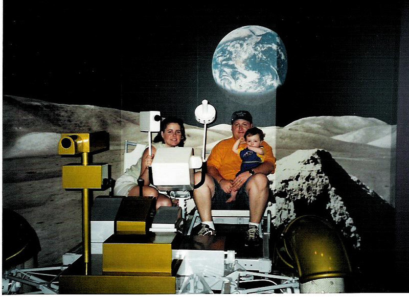 Lori, Brett, and Cole at Kennedy Space Center, April, 2001.