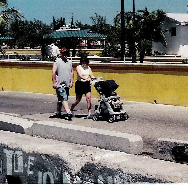 Lori, Brett, and Cole in the Bahamas, April, 2001.