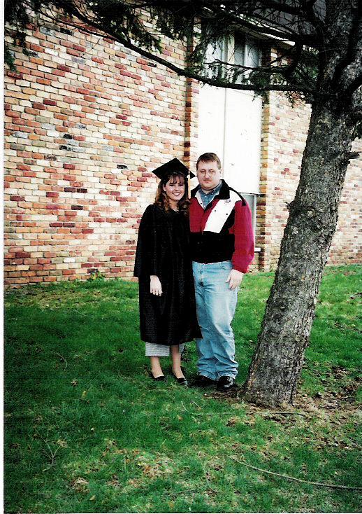 Lori's college graduation from WMU, April, 1996.
