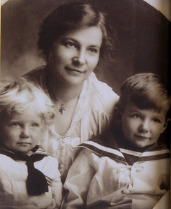 Editha Sale (nee Spohn) with sons Douglas Julian (left) and Howard Julian (right)