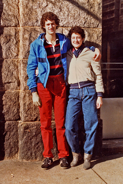 1981, February. New York. Charlie and Aliza Knox (both at NYU).