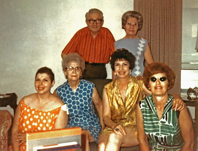 c. 1972-1974, St. Paul, Minnesota. 1452 Bayard Avenue. Marcus and Esther Knox; Tish (Dawn) Godes; Ida Barron Straus; Zelda Rose; Sally Rose.