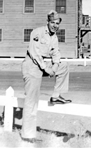 1946. Abba Knox at a US Army Base. Judging by his rank, it could be Camp Polk, Louisiana or Camp Stoneman, Pittsburg, California.