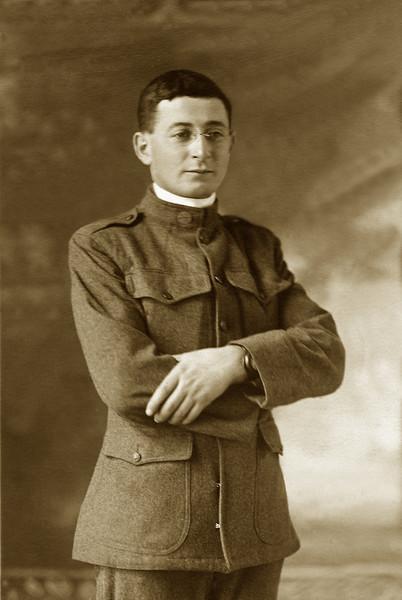 1918. Marcus Knox in US Army uniform, St. Paul, Minnesota.