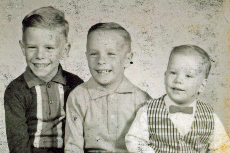 From left, Ronnie, David and Mike.