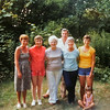 In Waterford, 1980. From left, Carol, Ann, Grandma J, John, Evie, Betty and Karen Antanaitis.