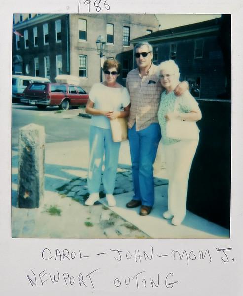 Carol, John and Gram J in Newport, 1988.