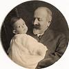 Bernard Meyer and his grandson, Bernard Goodkind (son of Arthur Goodkind and Berthe Meyer Goodkind), born in 1905.