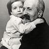 Bernard Meyer and his grandson, Bernard Constant Meyer (son of Max Meyer and Eugenia Goodkind), born 1910.  Max Meyer and Berthe Meyer, brother and sister, married Eugenia Goodkind and Arthur Goodkind, sister and brother.