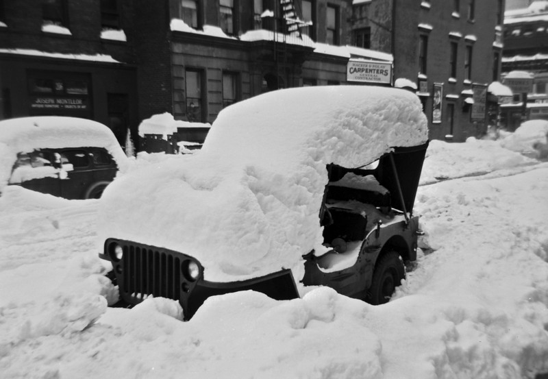 In December 1947, the family drove to New York City to spend the holidays with relatives.  A surprise snowstorm buried the city under 27 inches -- a one day record that stood until 2006.