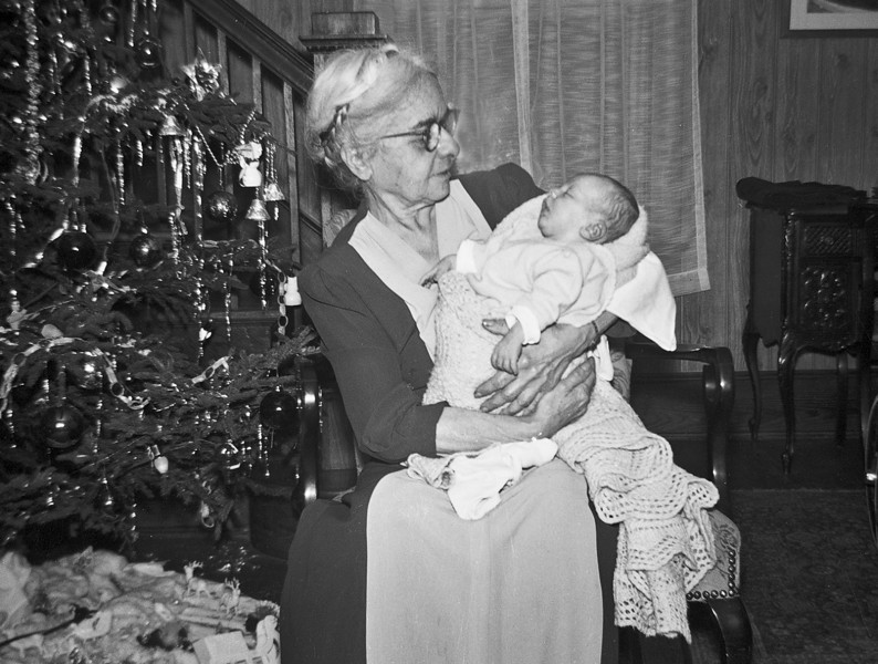 Granny G with Jim, December 1949.