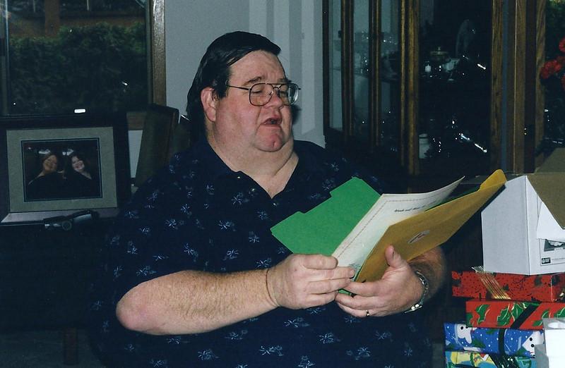 Dad, Christmas 2000