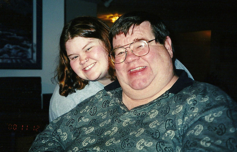 November 2000, Dad and I