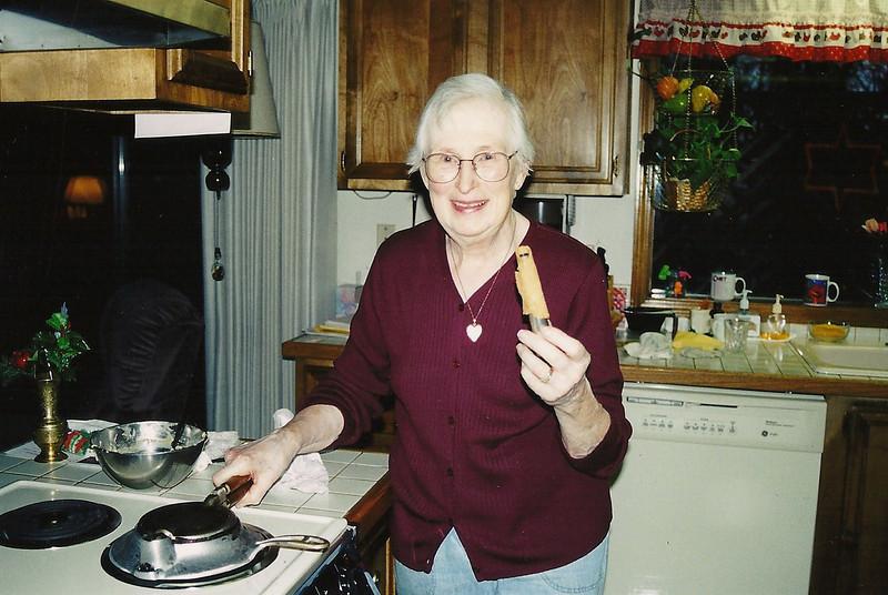 Grandma working on the Krumkake for Christmas!