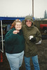 Braving the cold to tailgate at OSU, 1996.