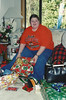 Melissa decked out in Beaver gear! Christmas 2000, before leving to AZ.