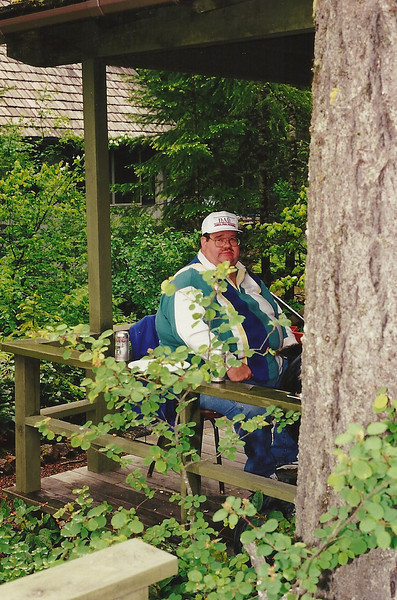 Dad BBQing at the Cabin! Roughly 1996-1998.