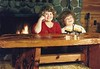 Michelle & Melissa at the cabin, 1988