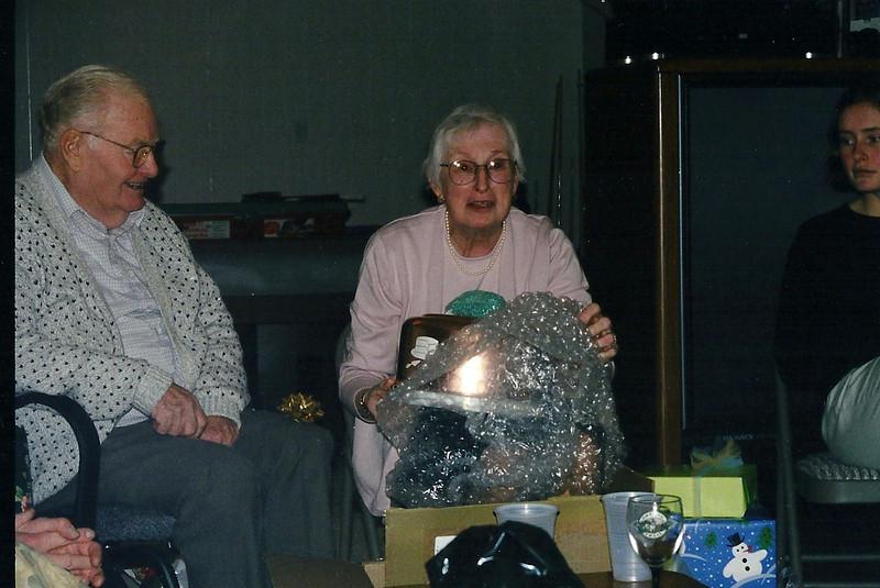 Grandma opening her cake pan