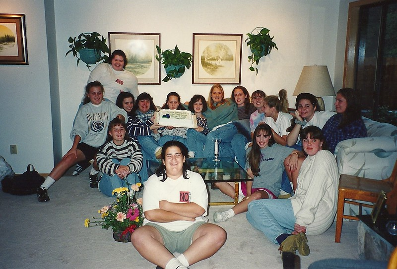 Jr. Pwder Puff Team at Tigard; Oct, 1994