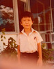 Benz in his old primary school uniform, outside dad's old office building in Jurong, Singapore, Circa 1979/80.