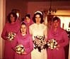 Celeste and bridesmaids, from left Hilda Dougherty, Celeste Colelli, Katy Woltemate, Maid of Honor MaryJulia Colelli