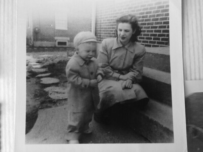 Mom and Johnny.  1955-1956