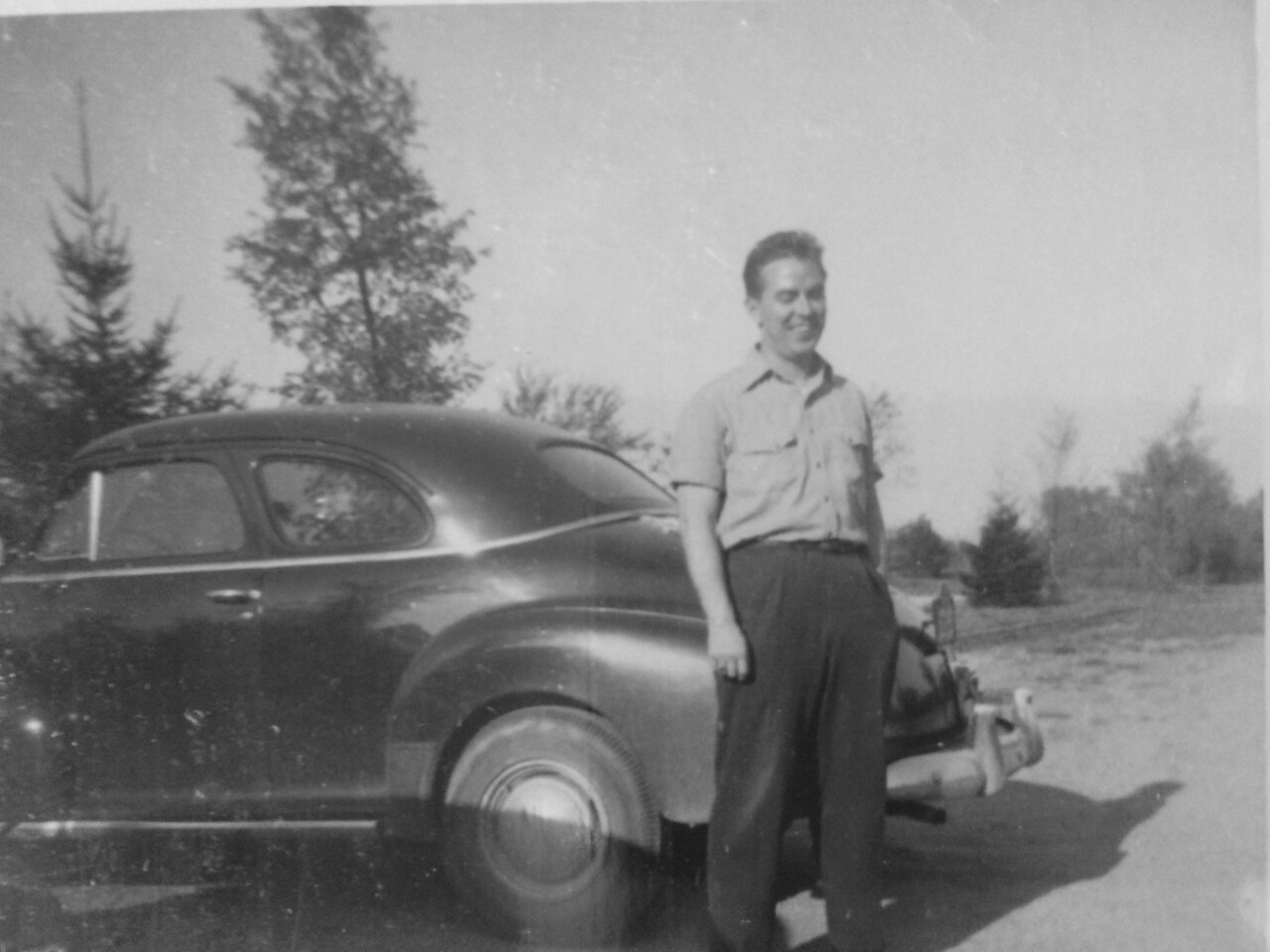 Frank... with the family's 1948 Chevy