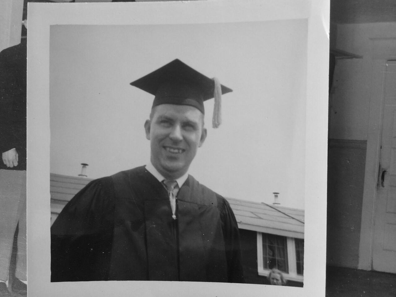 Frank at his Tri-State graduation.