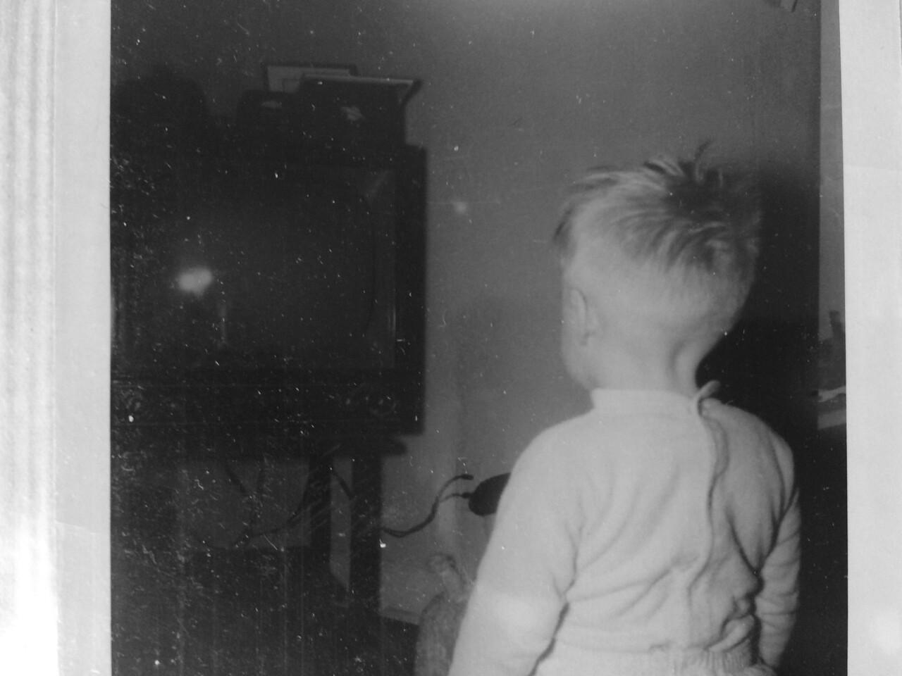 Bobby watching TV