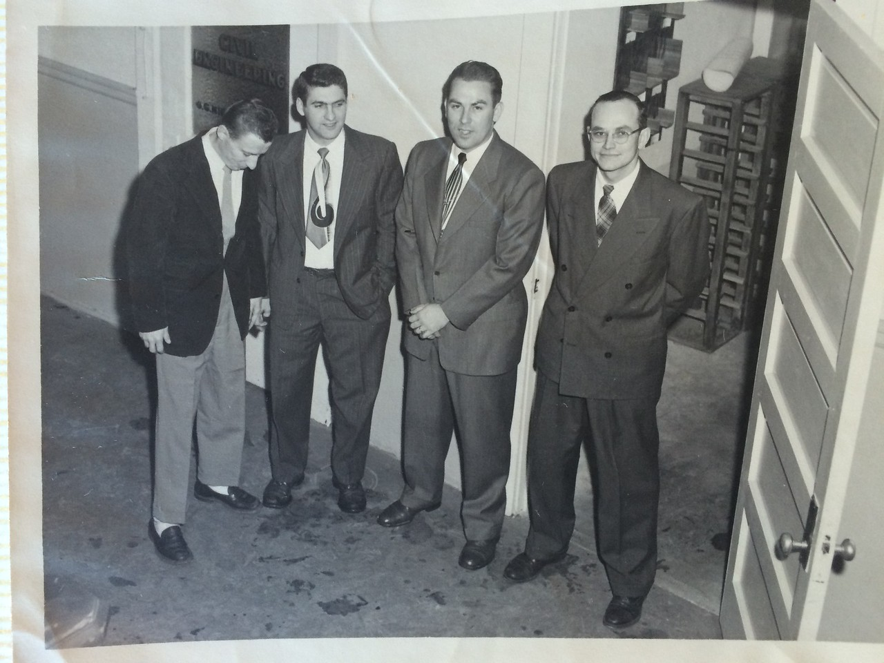 Frank Davis at Tri-State College, Indiana.  President of the Civil Engineering Society 1951.