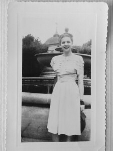 Clara Honeymooning in 1946