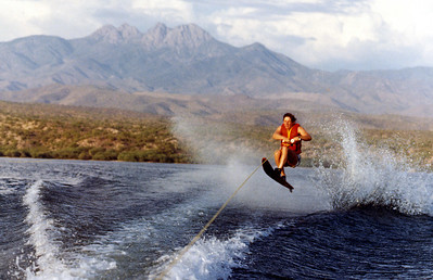 John water skiing on Saguaro Lake