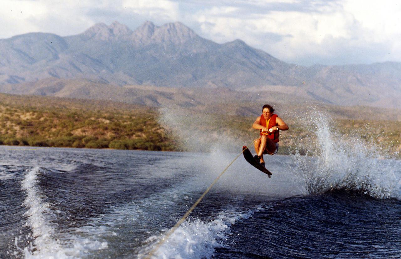 John water skiing on Saguaro Lake
