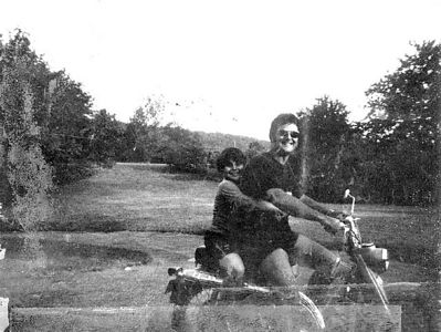 Shep and Ronnie at the farm (ca 1965)