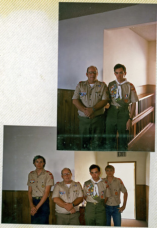 Uncle Wayne at an Eagle scout ceremony.