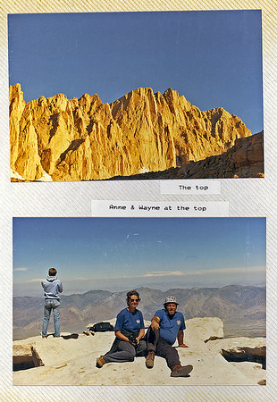 Top of Mount Whitney, Aunt Anne and Uncle Wayne at the top.