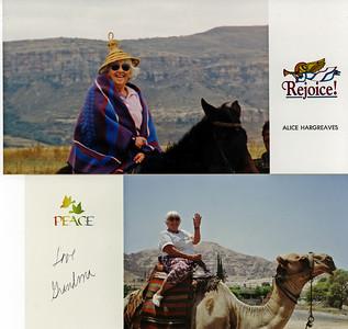 Grandma Alice in Lesotho  Grandma Alice in Isreal