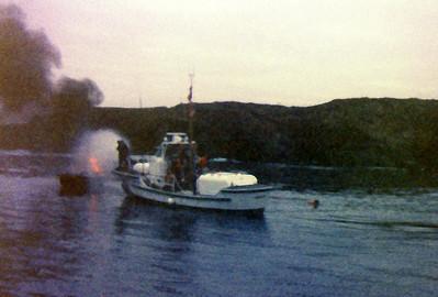 Fire fighting, Noyo harbour