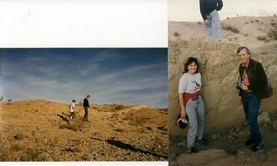Thomas and Bob.         Bob and Ginny  Earthquake fault