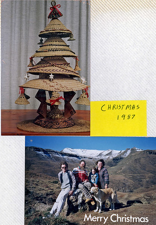 Christmas in Lesotho. 1987