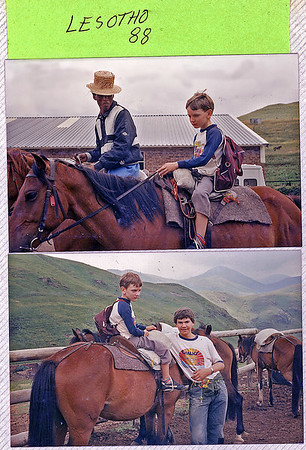 James Riding a Basutho pony